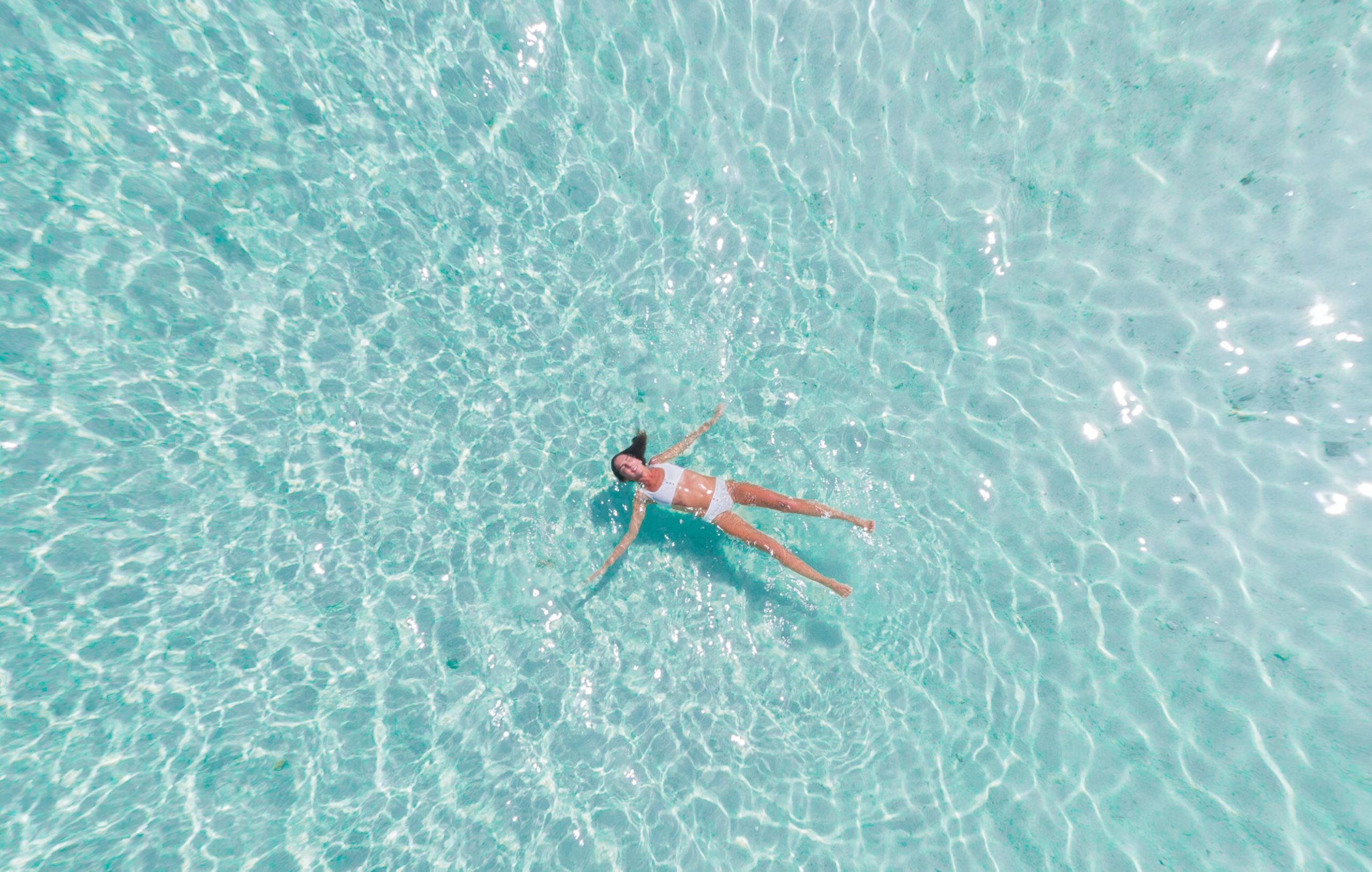 The experience of a morning swim in Halkidiki