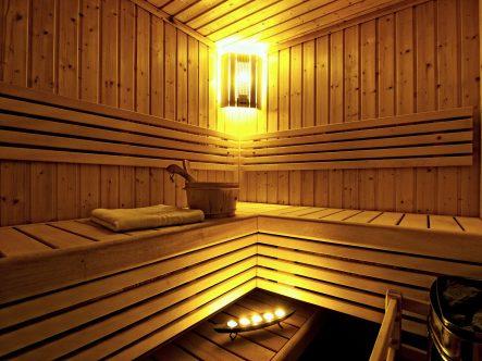 The sauna in Akrogiali hotel in Halkidiki