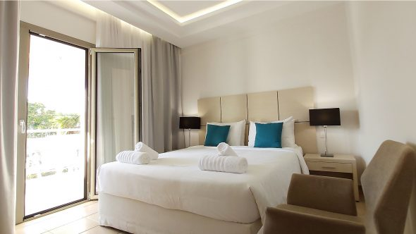 The Superior Double Room in Akrogiali Hotel in Halkidiki