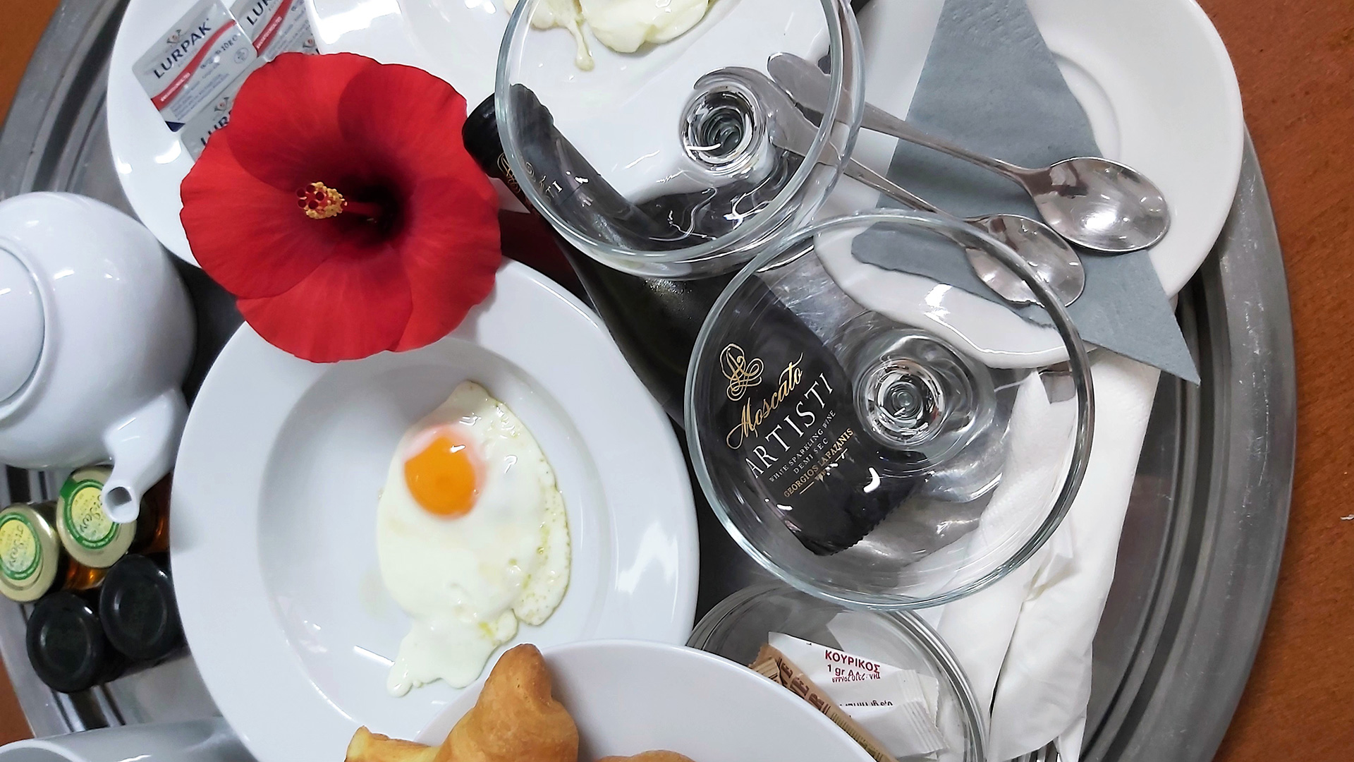 Delicious complimentary breakfast service in Akrogiali hotel in Polychrono Halkidiki