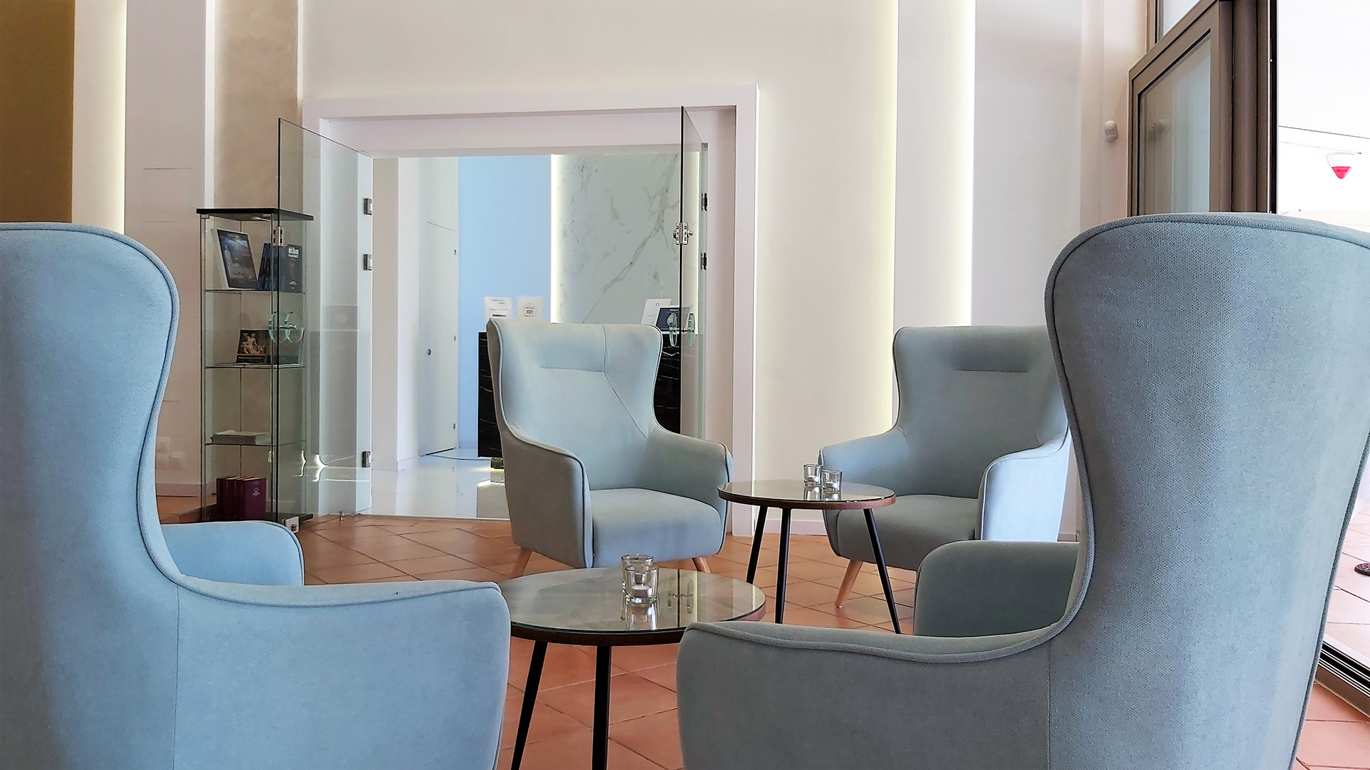 Lounge area privileges in Akrogiali hotel in Halkidiki